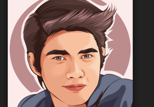 536x374 Draw Realistic Vector Portrait In Great Quality For