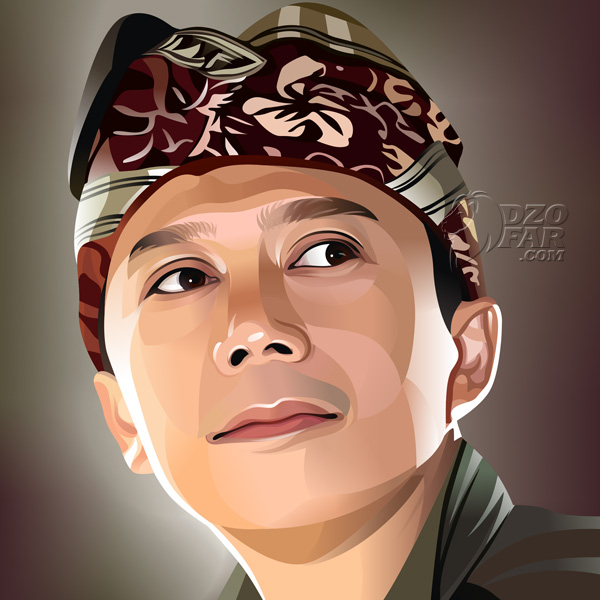 600x600 Realistic Vector Man With Balinese Hat By Ndop