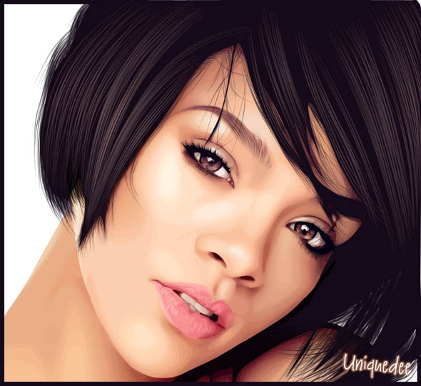 590x541 Vector Face Tutorial 15 Best Realistic Vector Potraits For