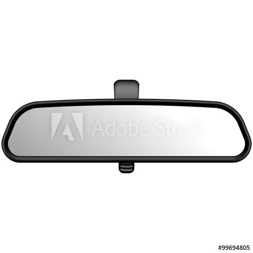 500x500 Realistic Vector Illustration Of Rear View Mirror. On White Back
