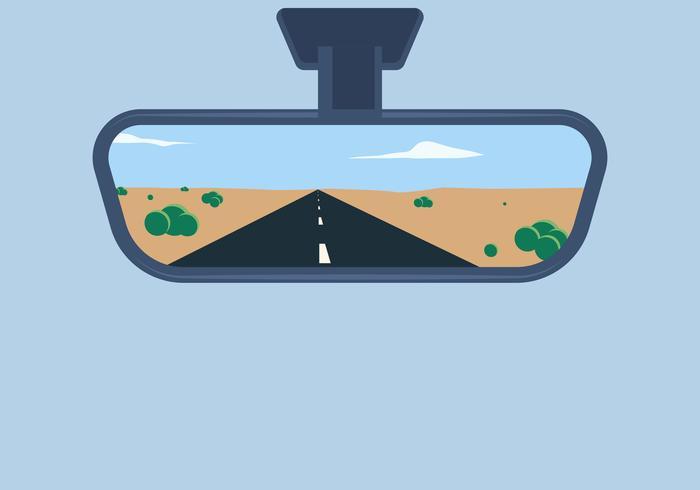 700x490 Rear View Mirror Vector Illustration