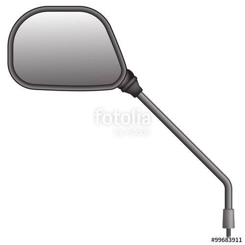 500x500 Vector Illustration Of Bike Or Scooter Side Rear View Mirror. Is