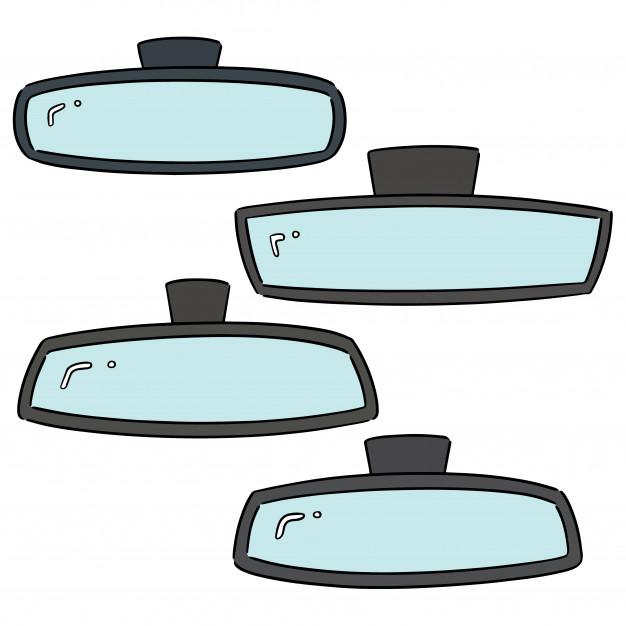 626x626 Vector Set Of Rear View Mirrors Vector Premium Download