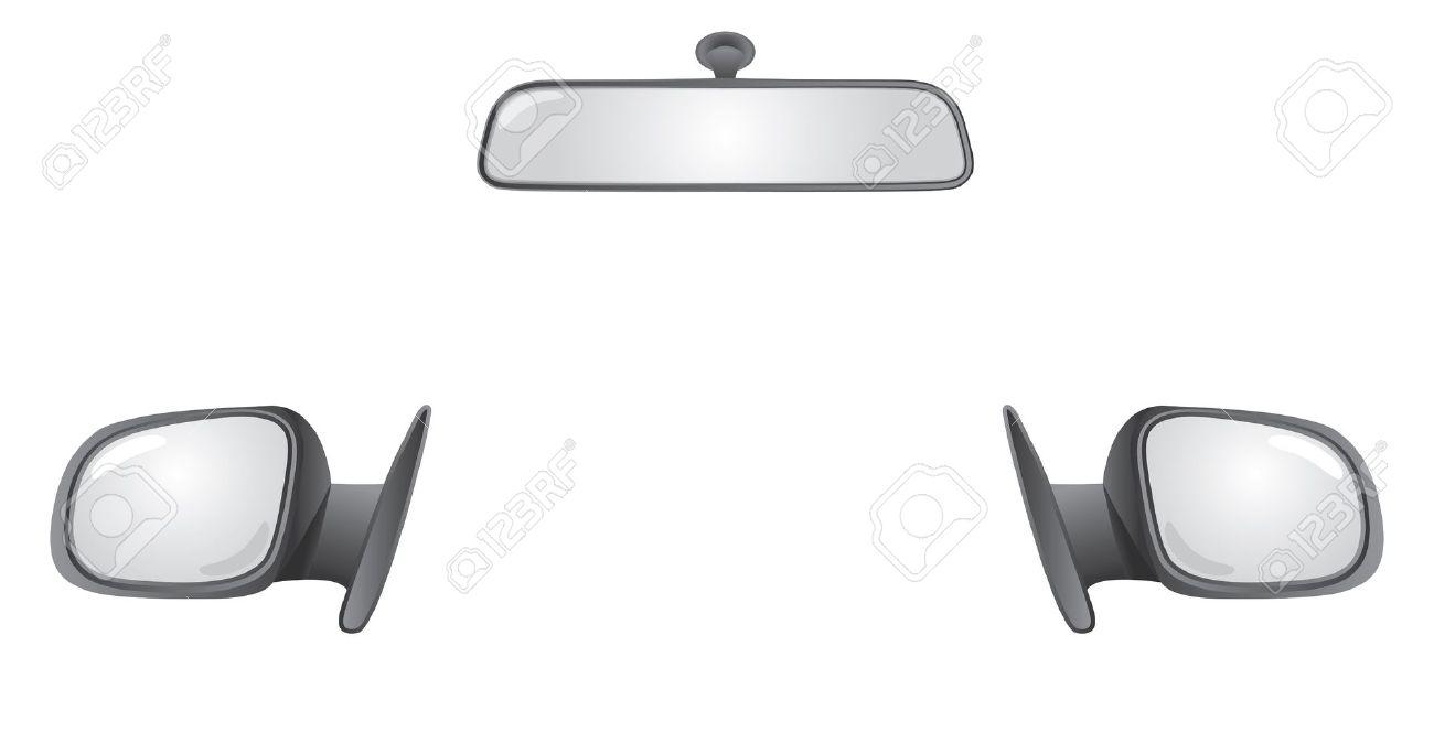 1300x674 Car Mirror Clipart Collection