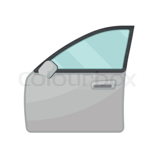 320x320 Icon Of Outside Rear View Mirror. Part Of Automobile. Car Theme