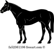 215x194 Free Art Print Of Rearing Up Horse Fine Vector Silhouette And