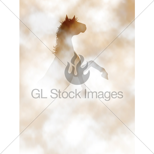 500x500 Rearing Horse Gl Stock Images