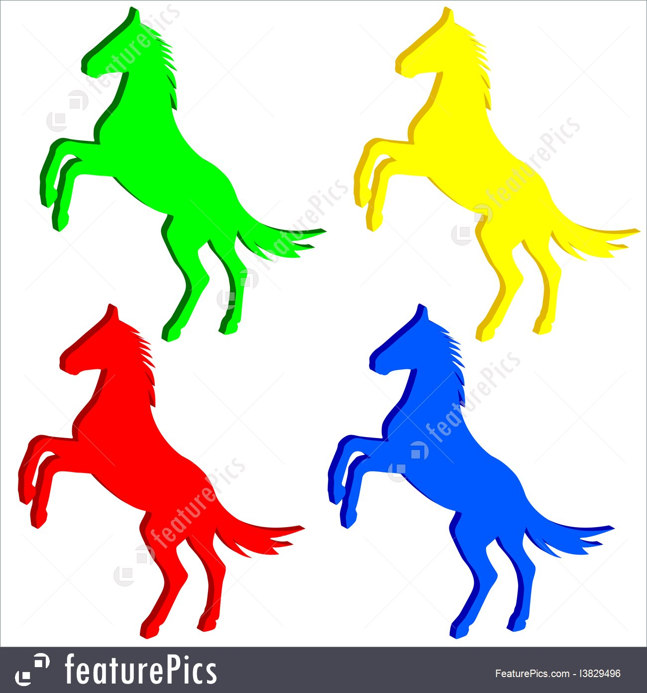 1300x1392 Rearing Up Horse Vector Silhouette