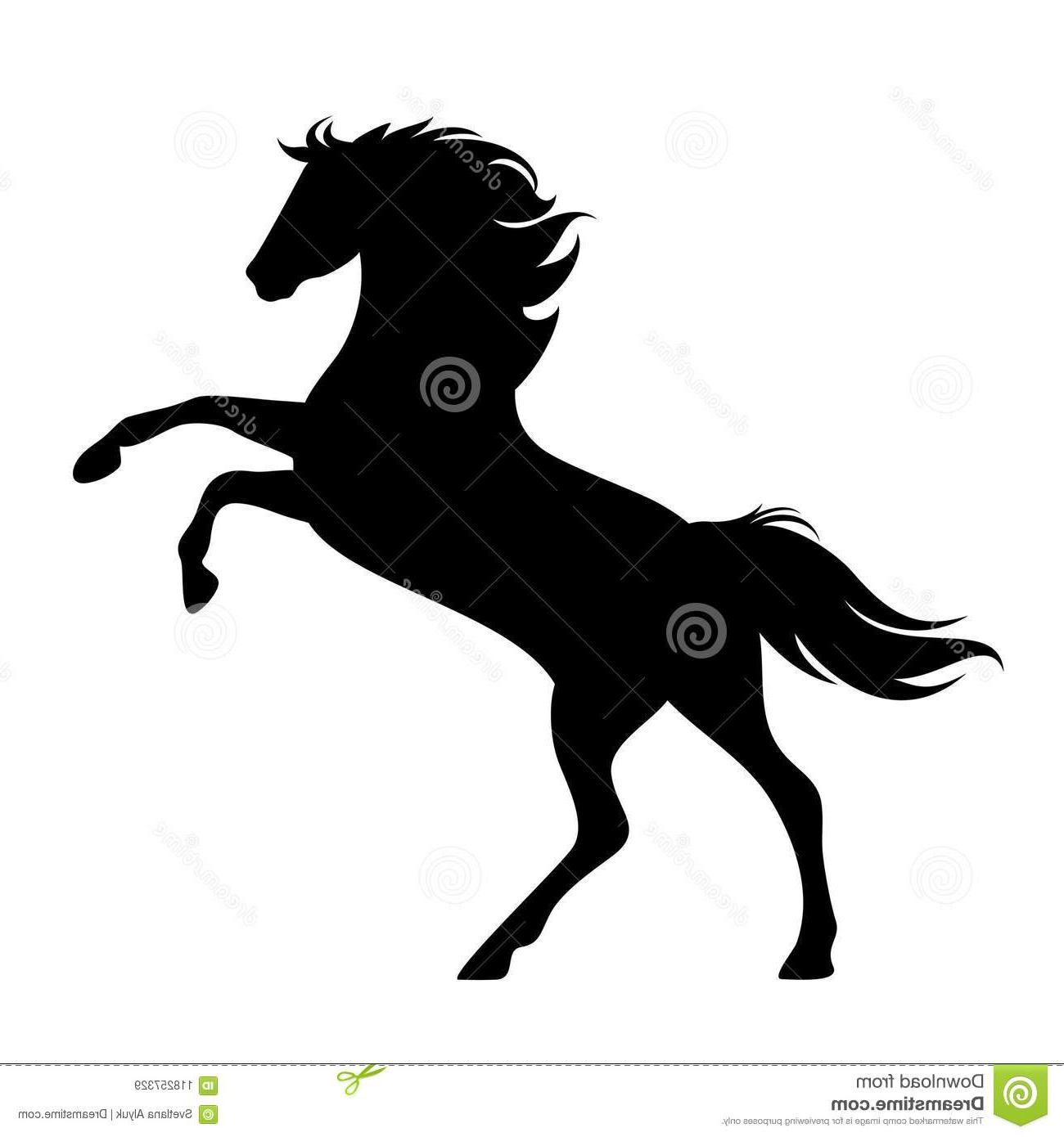 1300x1390 Best Free Rearing Up Horse Black Vector Silhouette Side View