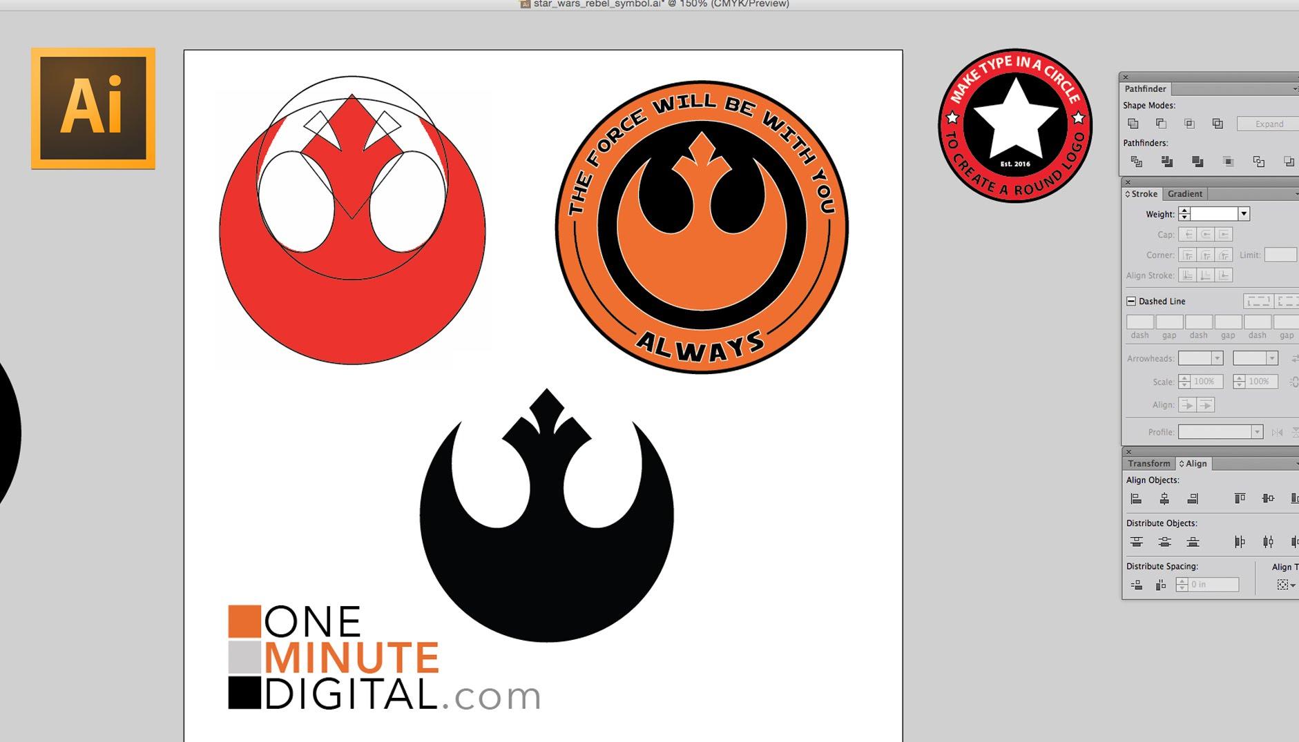 1881x1075 Make The Star Wars Rebel Insignia In Illustrator