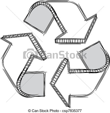 450x465 Doodle Of A Recycle Sign . Vector Doodle Of A Recycle Sign. No