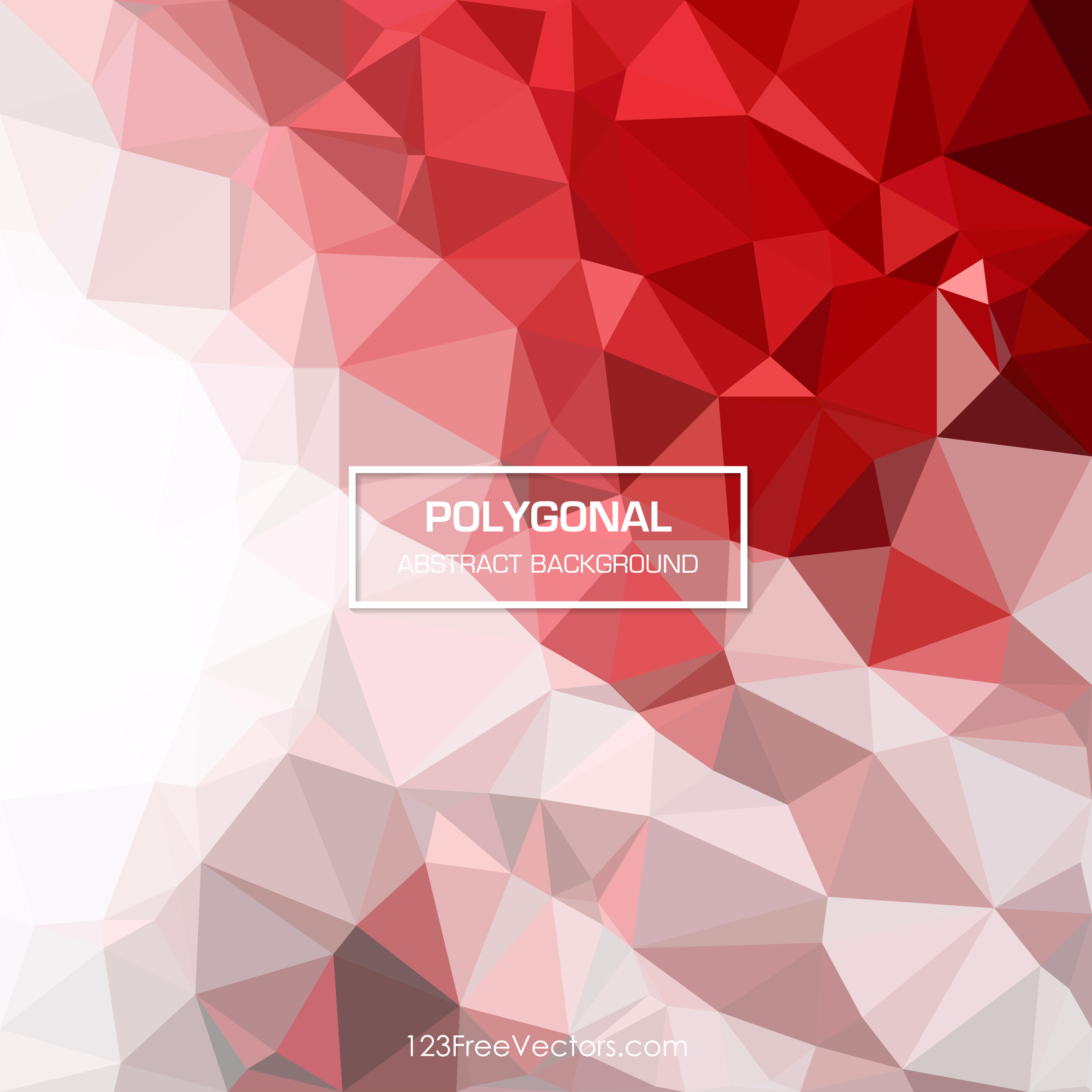3333x3333 Red Abstract Geometric Polygon Background Vector 123freevectors