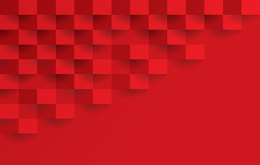 377x240 Red Abstract Background Vector With Blank Space For Text.