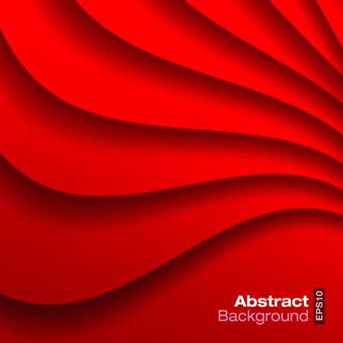 500x500 Red Wave Abstract Vector Background 01 Free Download