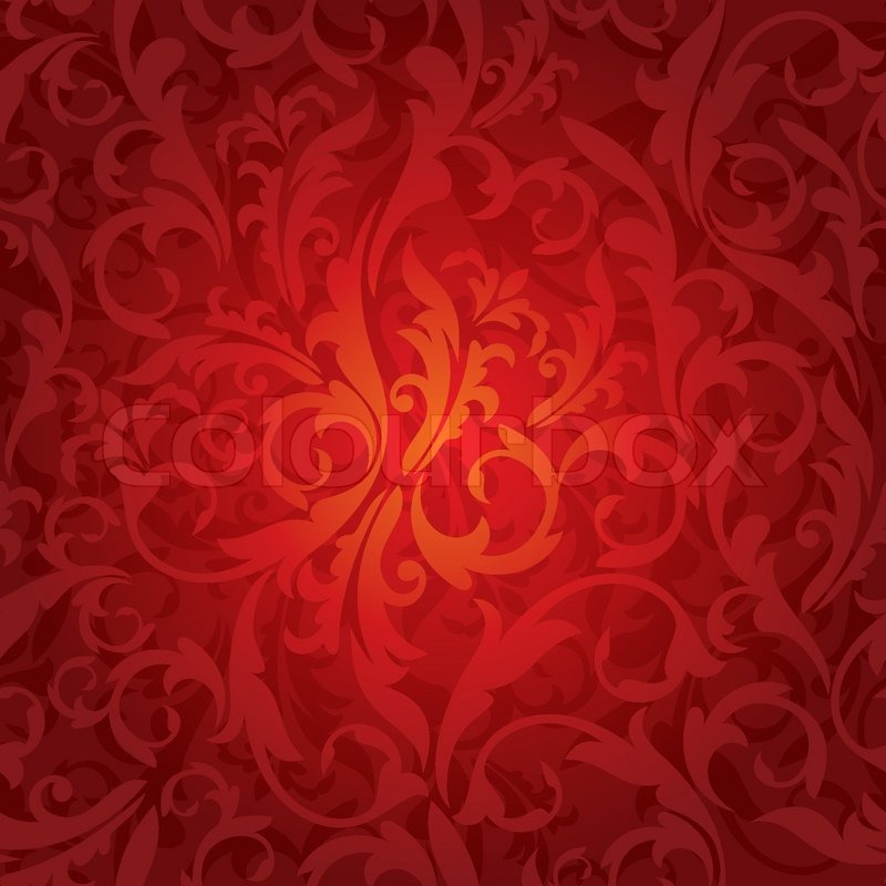 800x800 Abstract Seamless Red Floral Background Vector Illustration