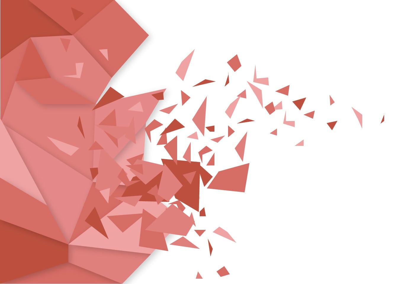 1337x960 Broken Polygon Abstract Red Vector Background Design