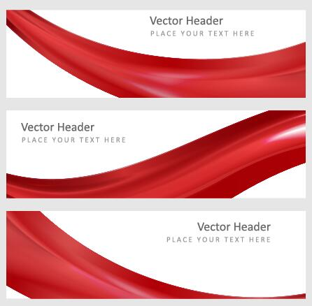446x438 Modern Banner With Red Abstract Vector 01 Free Download
