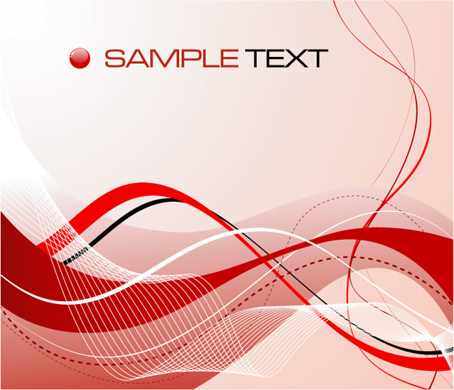 639x549 Red Abstract Composition Card