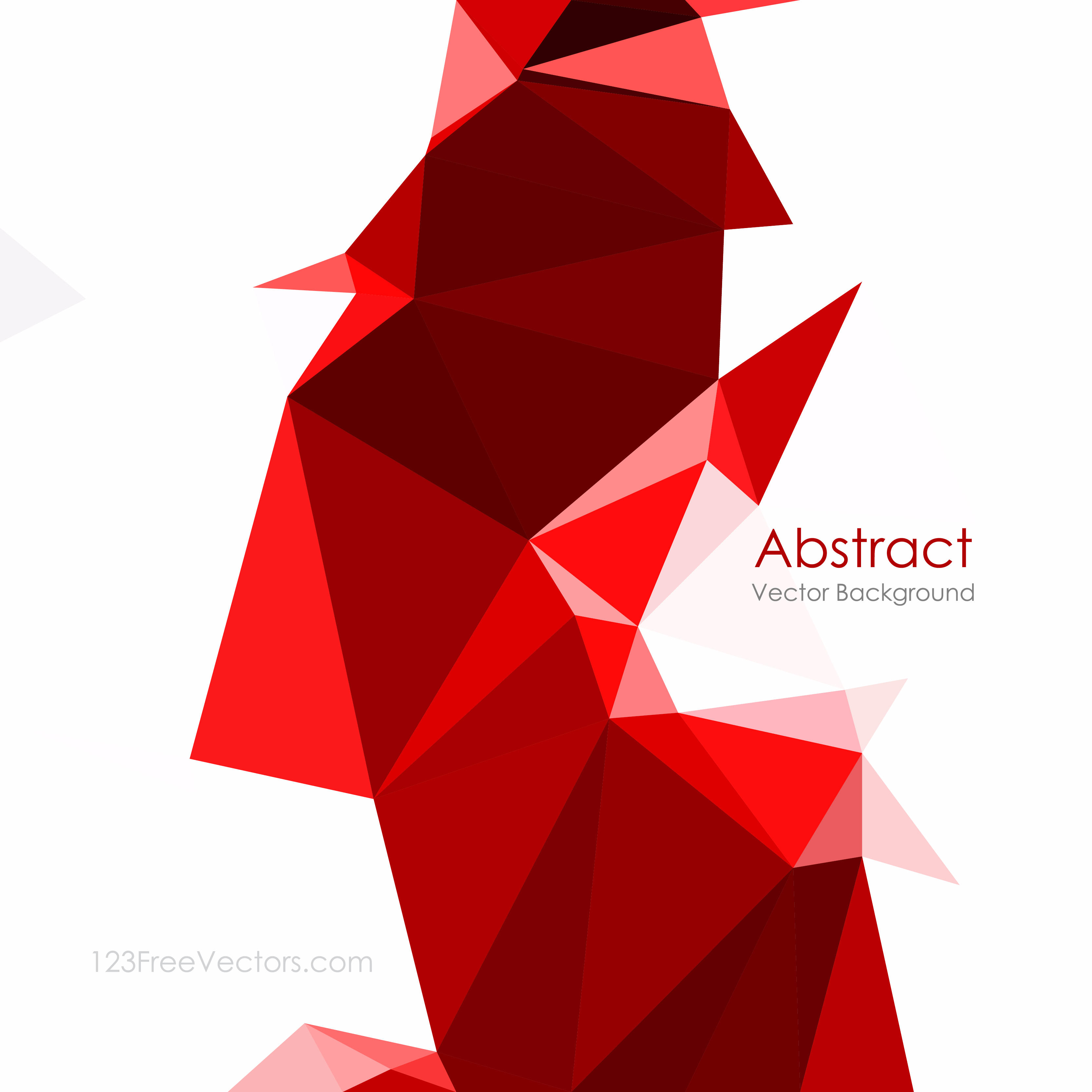 3333x3333 Red Abstract Low Poly Background Illustrator 123freevectors