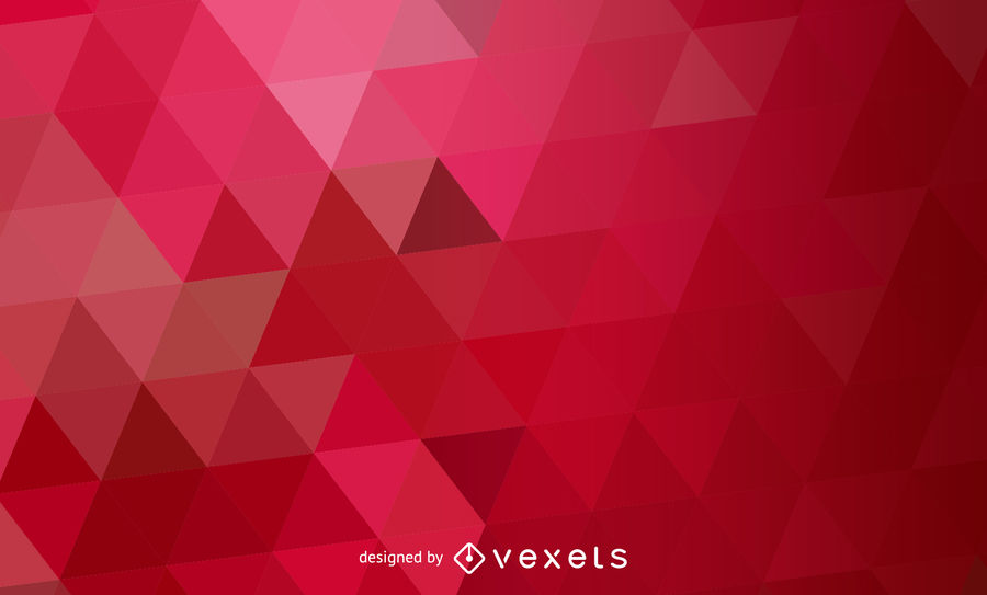 900x543 Red Abstract Polygonal Triangles Pattern