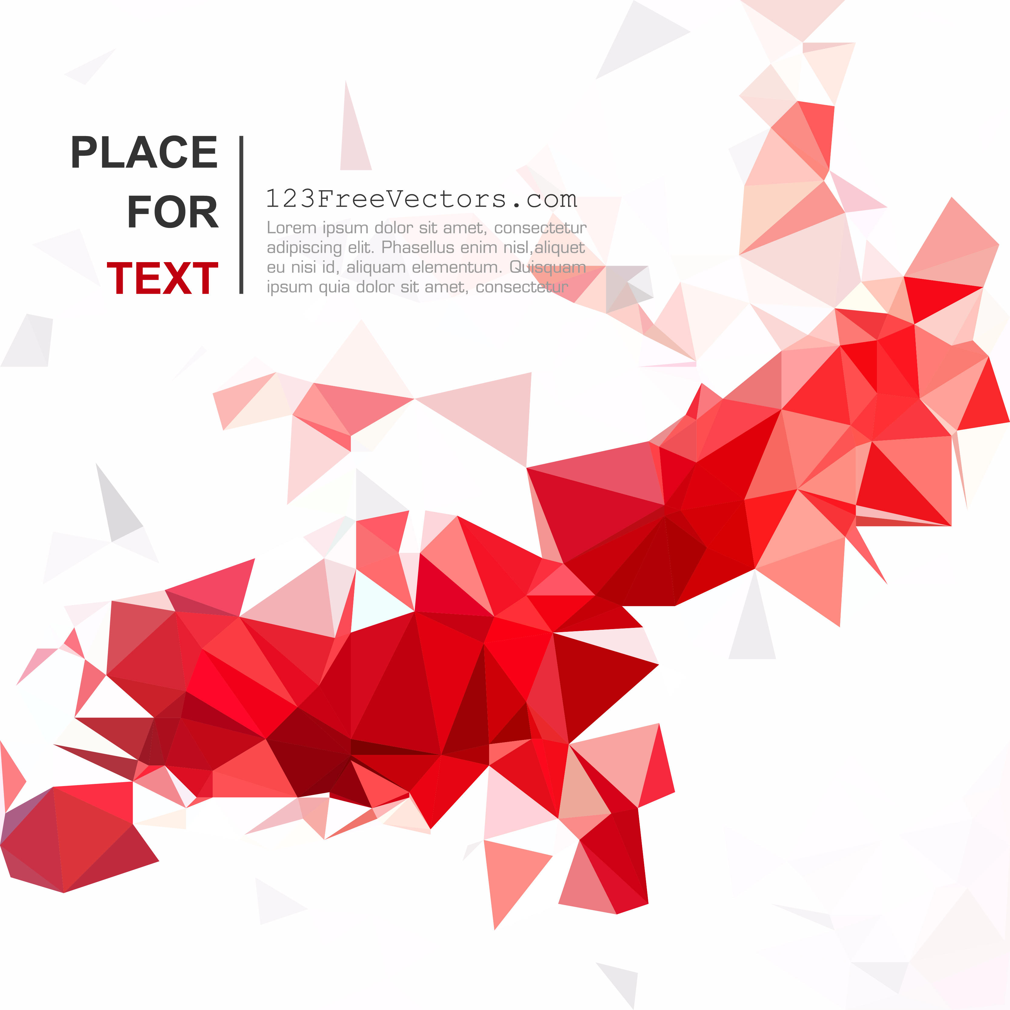 3333x3333 Red Abstract Polygonal Triangular Background Vector 123freevectors