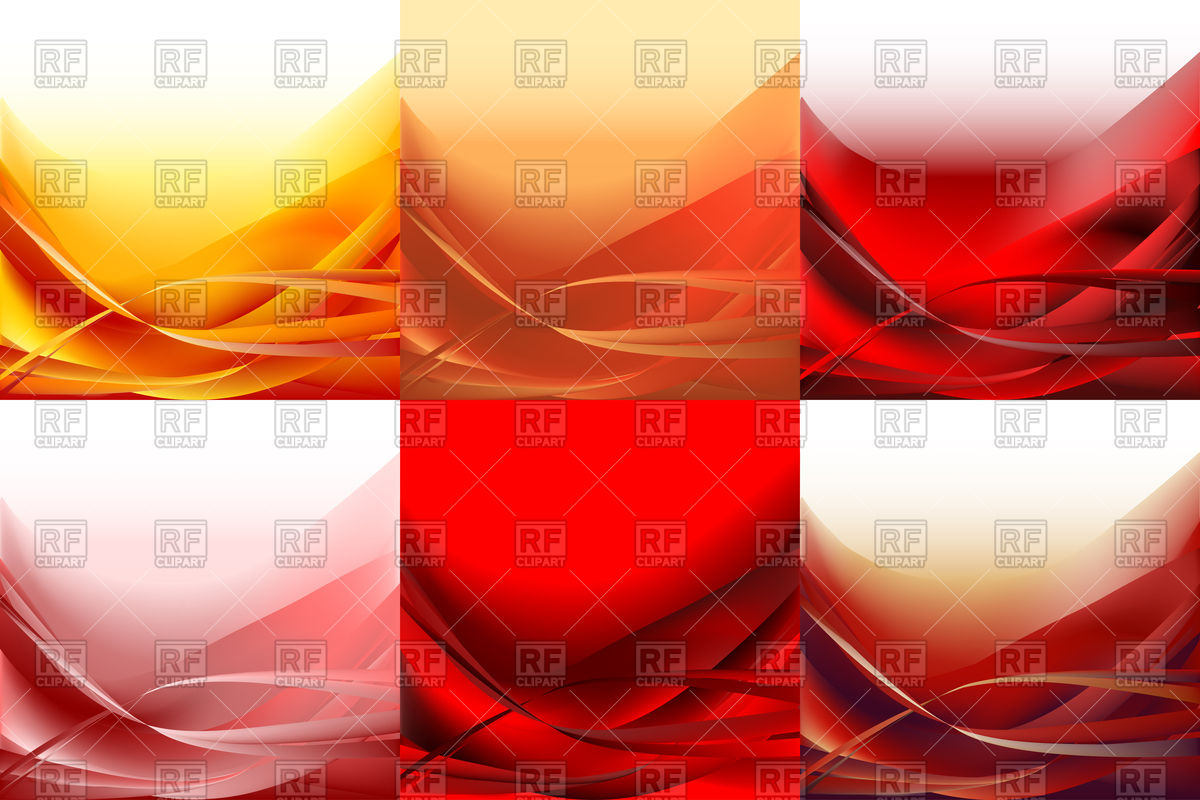 1200x800 Set Of Waves Red Abstract Backgrounds Vector Image Vector