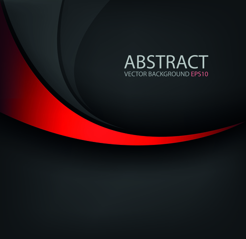 500x485 Colored Wave With Black Background Vector Free Vector In