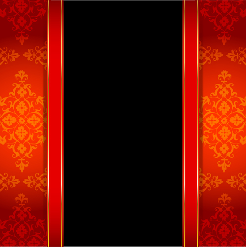 500x501 Ornate Red With Black Background Vectors 03 Free Download
