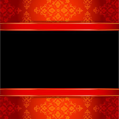 500x499 Ornate Red With Black Background Vectors Free Vector In Adobe