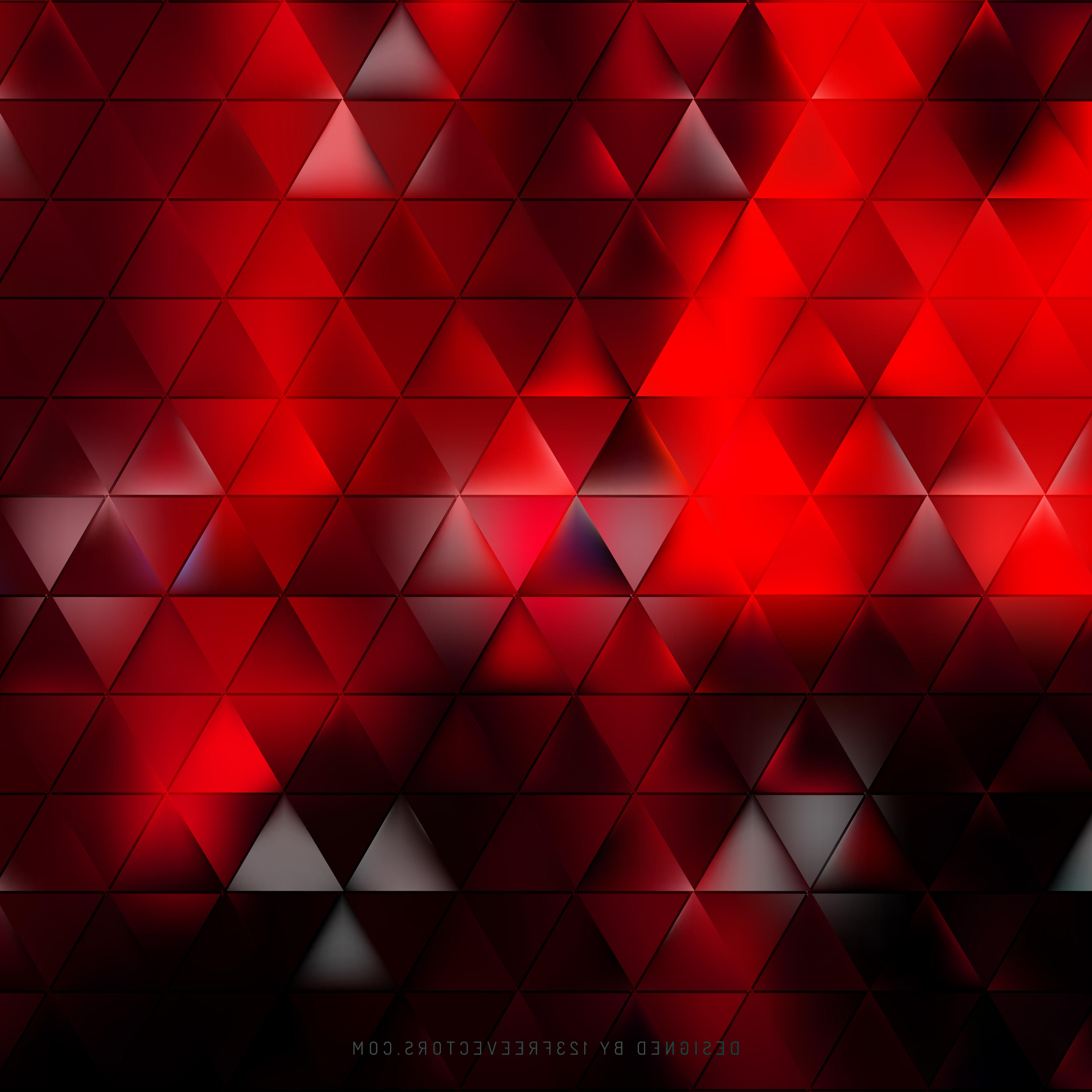 3333x3333 Red And Black Abstract Abstract Red Black Triangle Background