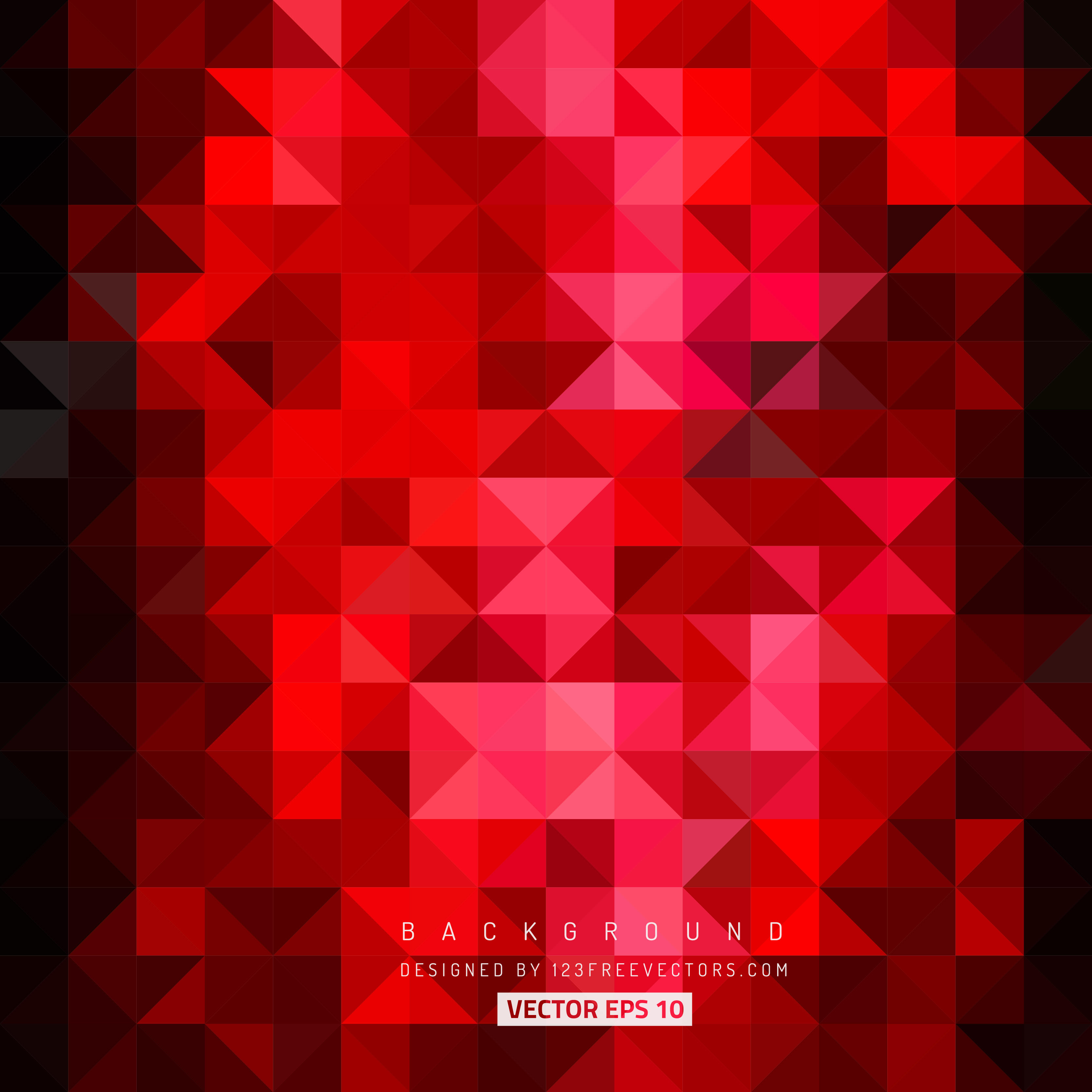 3333x3333 Red Black Triangle Background Vector 123freevectors