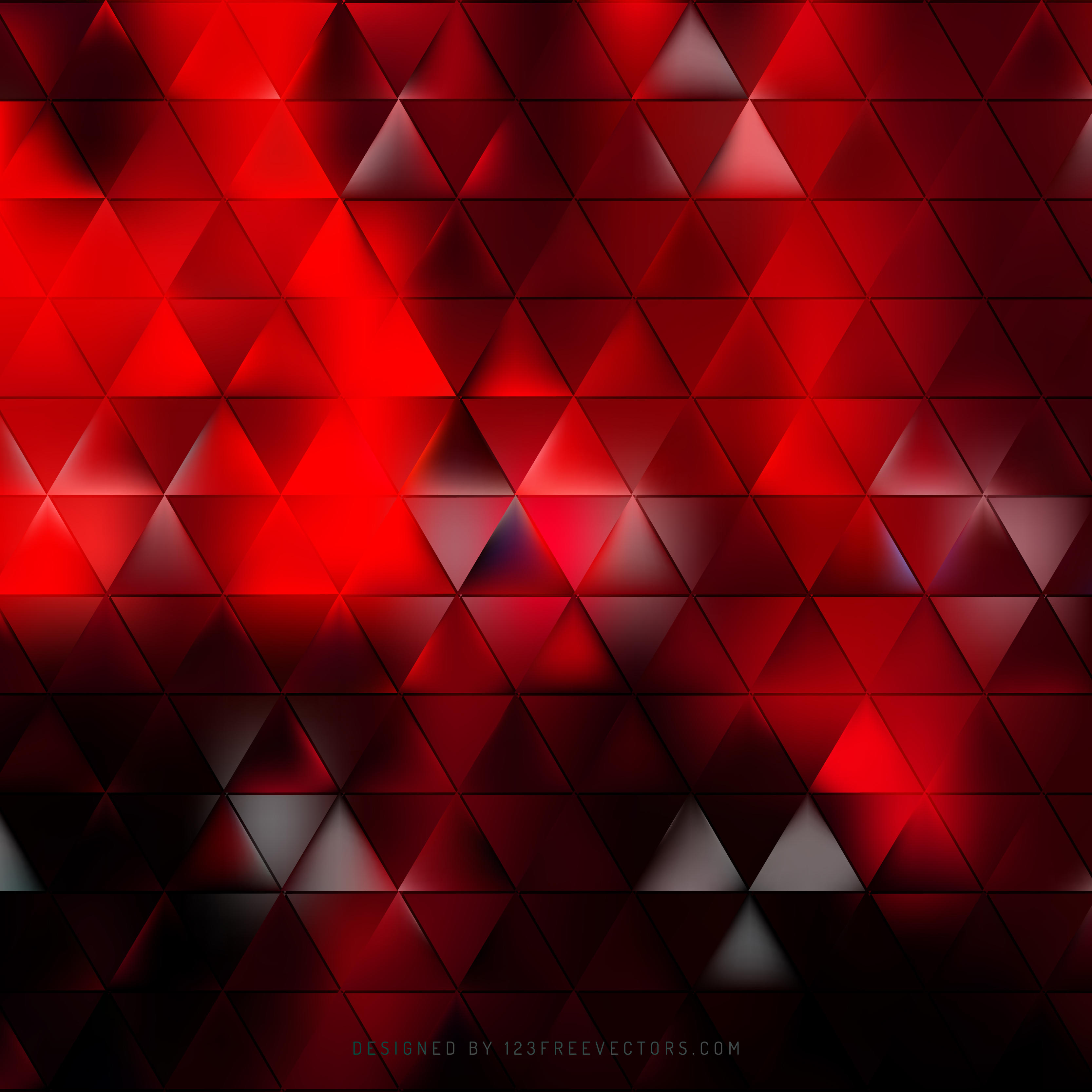 3333x3333 Abstract Red Black Triangle Background Vector 123freevectors