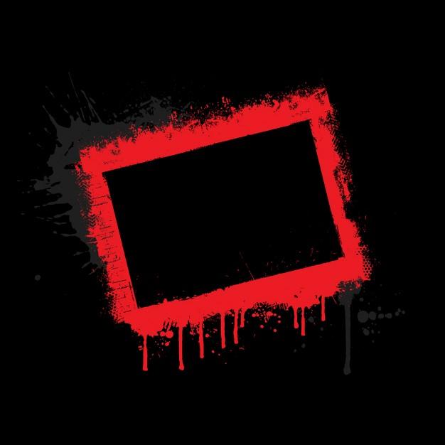 626x626 Red Grunge Border On Black Background Vector Free Download