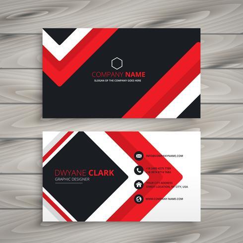 490x490 Red Black Business Card Vector Design Illustration