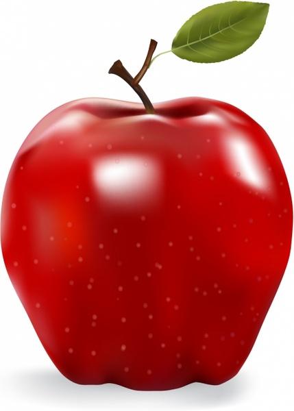 429x600 Red Apple Free Vector In Adobe Illustrator Ai ( .ai