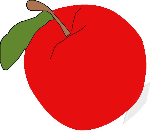 600x540 Red Apple Clip Art Free Vector 4vector