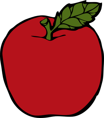 440x500 Red Apple Vector Public Domain Vectors