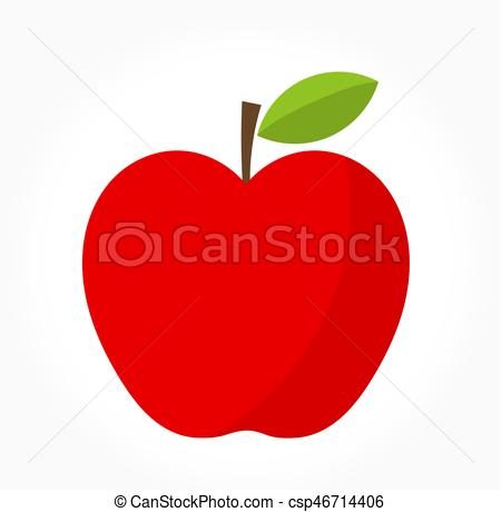 450x460 Red Apple Vector. Red Apple. Vector Illustration.