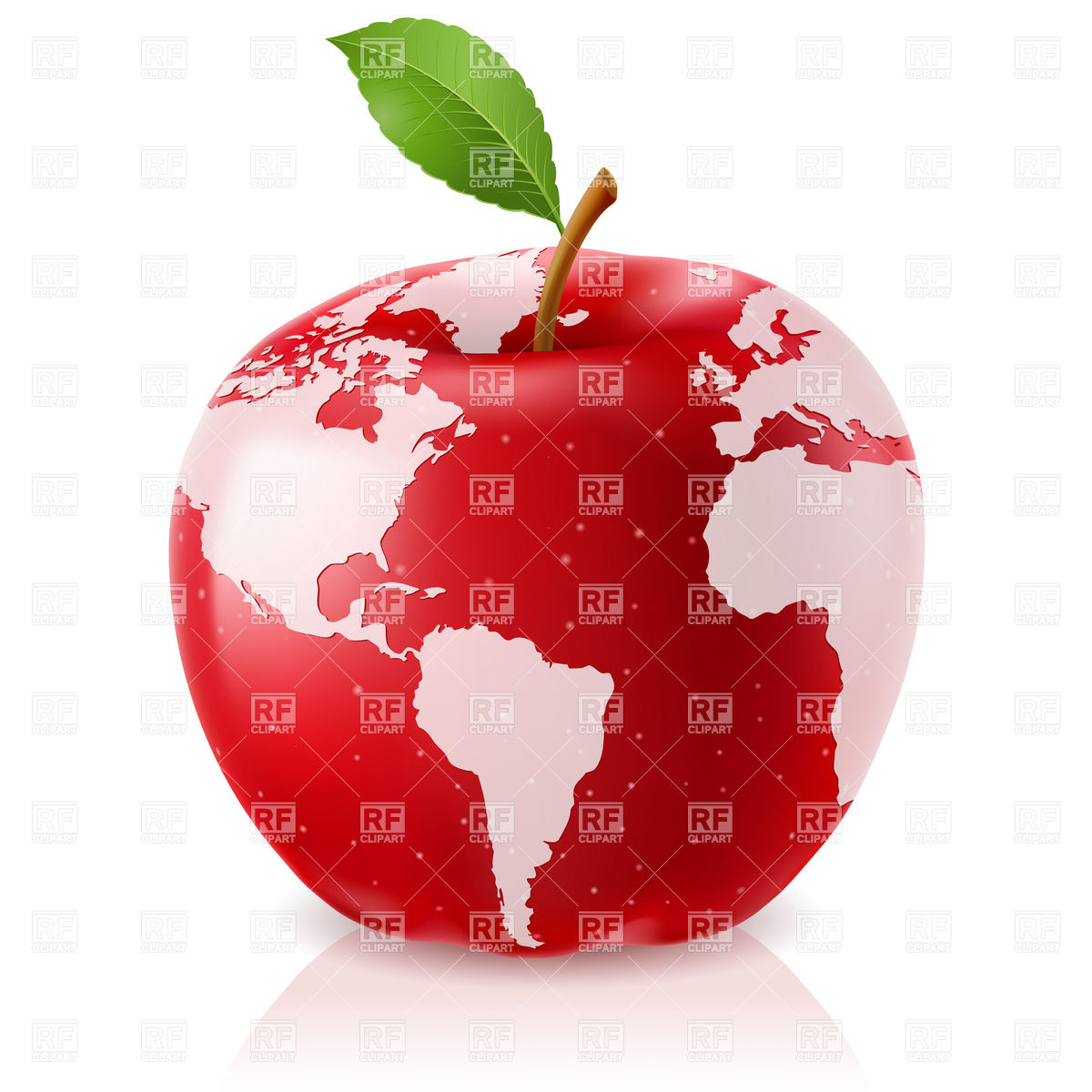 1200x1200 Red Apple World Map Vector Image Vector Artwork Of Backgrounds