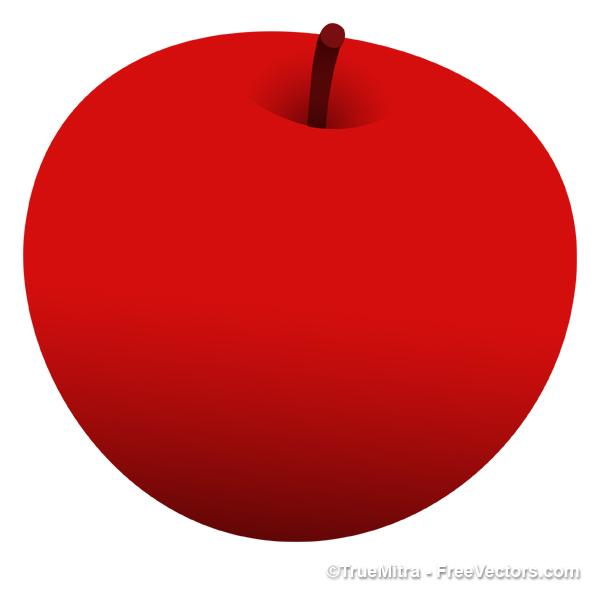 600x597 Delicius Red Apple Vector Vector Free Download
