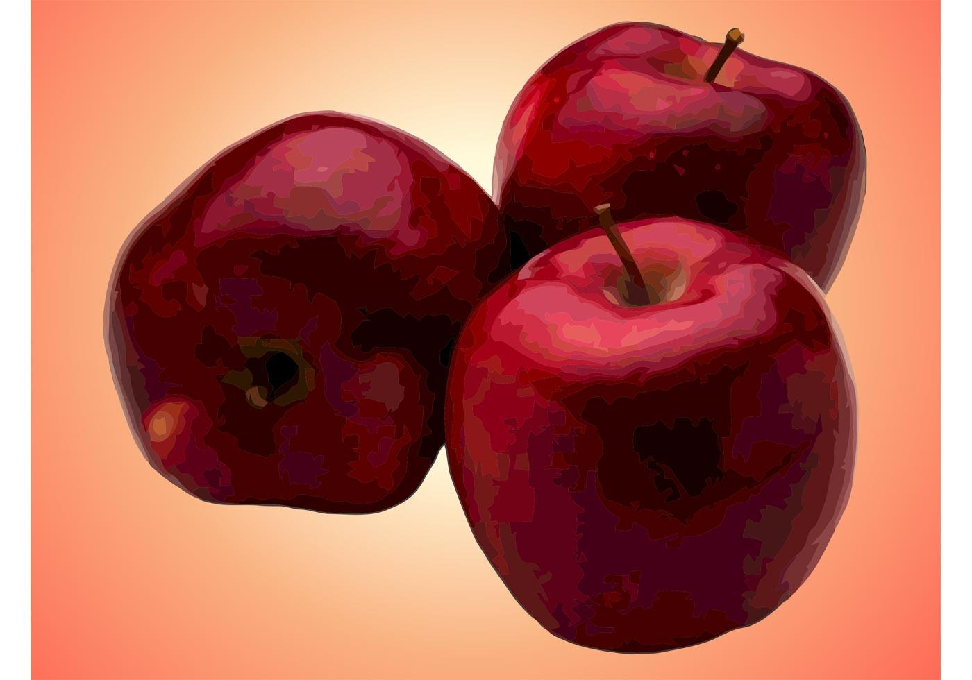 1400x980 Red Apple Free Vector Art