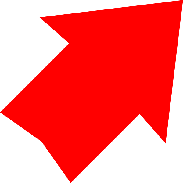 600x600 Red Arrow Up Right Clip Art