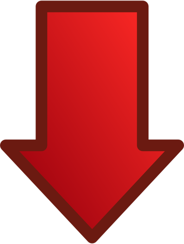 378x500 Red Arrow Pointing Down Vector Image Public Domain Vectors