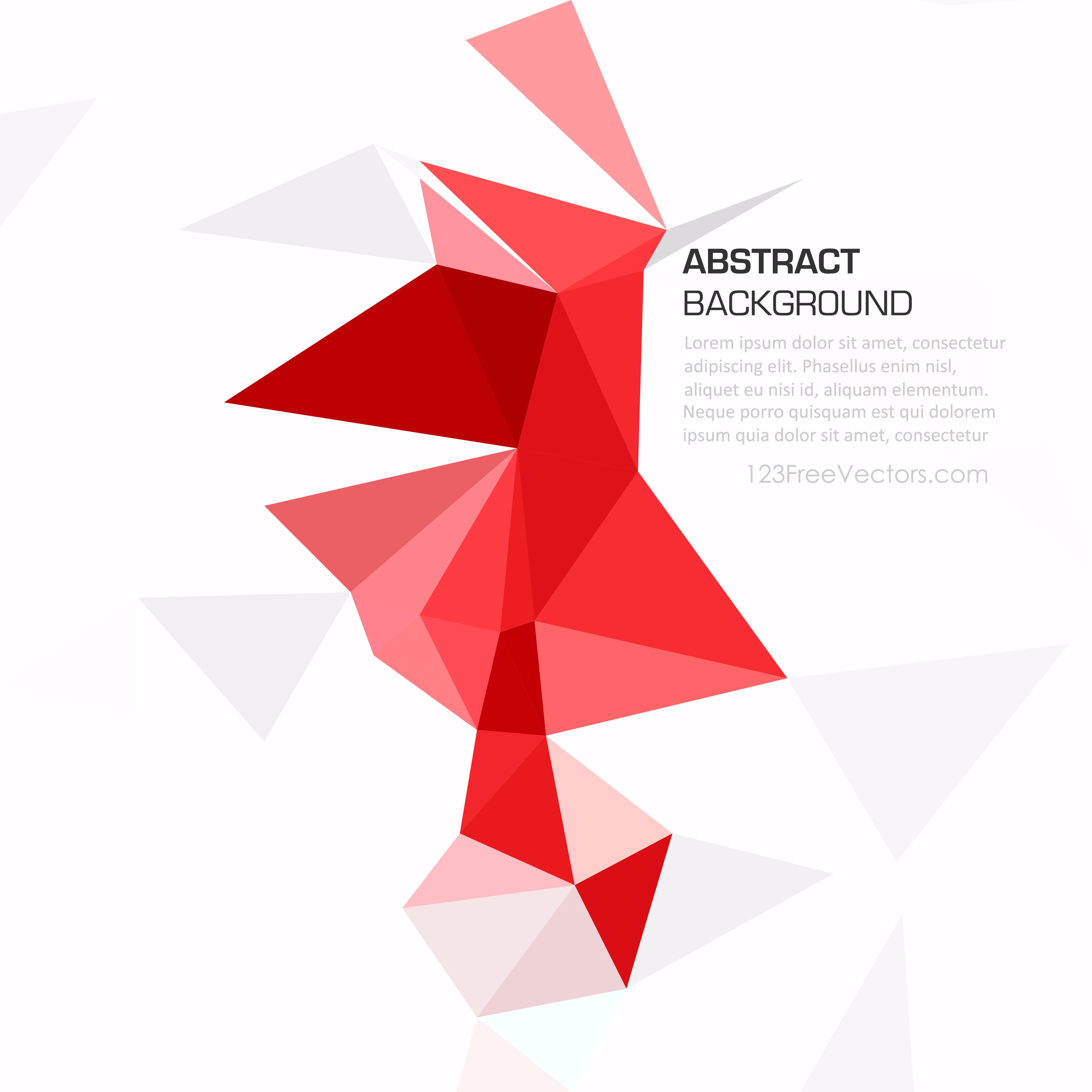 3333x3333 Geometric Polygon Red Background Vector 123freevectors