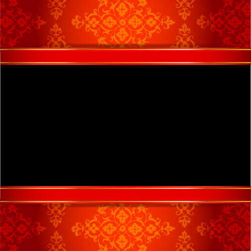 500x499 Ornate Red With Black Background Vectors 01 Free Download