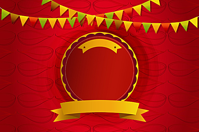 650x433 Pennant On Red Background Vector Diwali, Diwali, Promotional