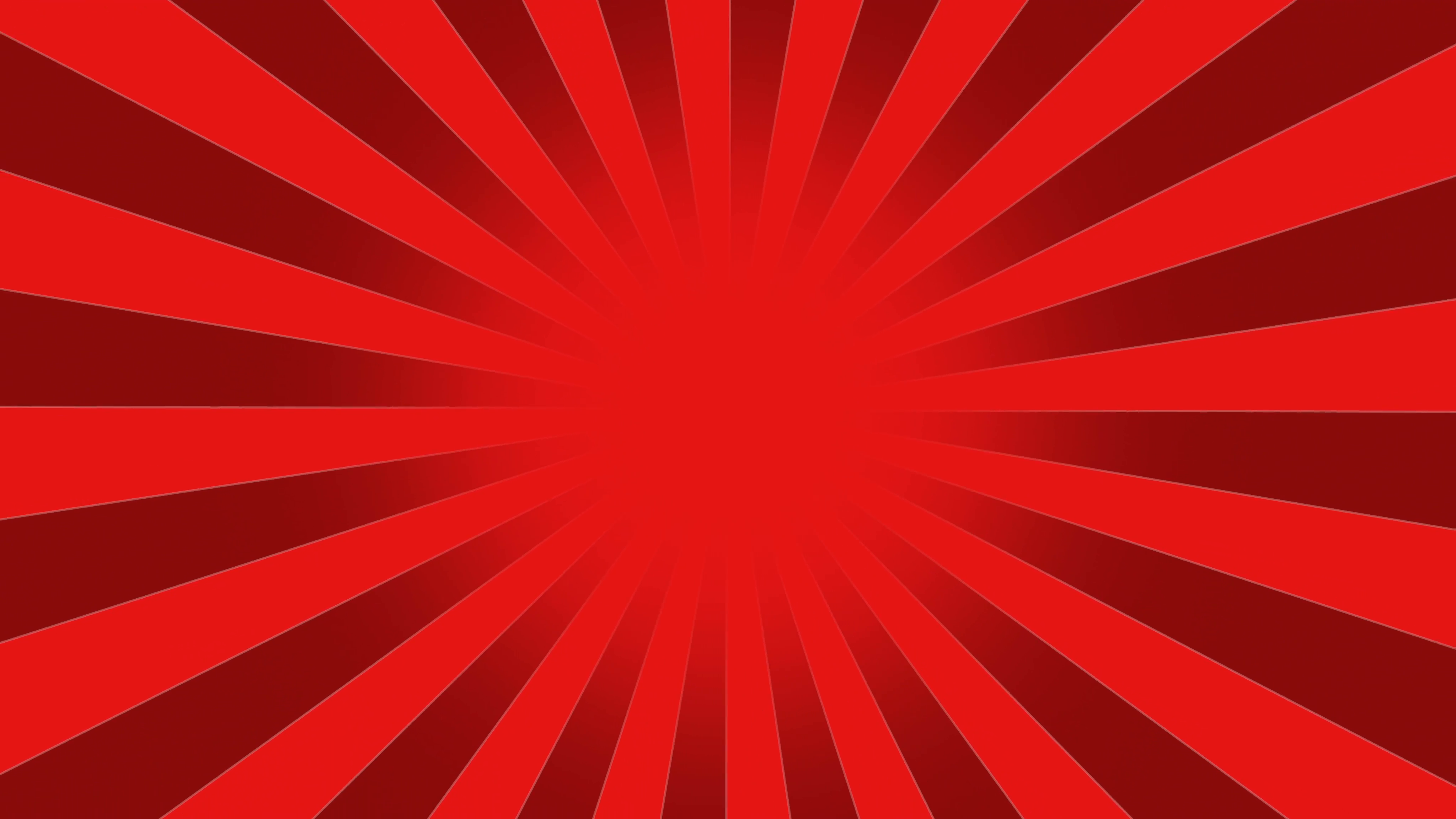 4096x2304 Red Burst Vector Background. Cartoon Background With Space For