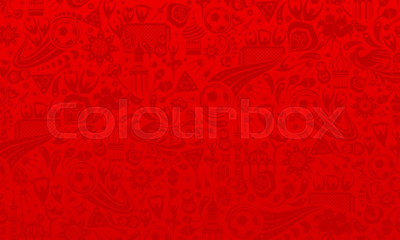800x480 Vector Illustration Russian Red Background. Official Background Of