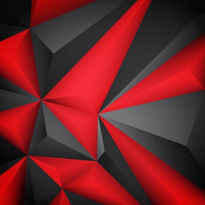 700x700 Abstract Red Background. Vector Wall Mural We Live To