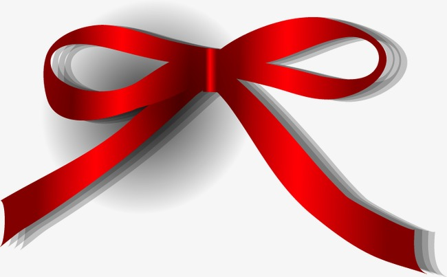 650x403 Painted Red Bow Ribbon, Bow Vector, Ribbon Vector, Hand Painted